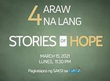Stories of Hope May 3, 2021 Replay Today Episode